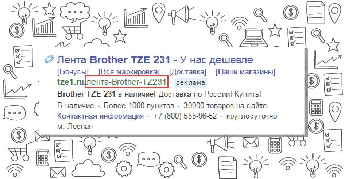 Отображаемая ссылка. Нововведение Яндекс.Директ